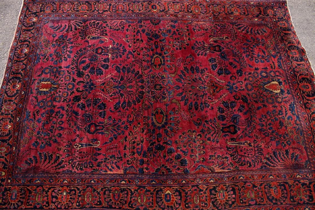 RED AND BLUE ORIENTAL RUG