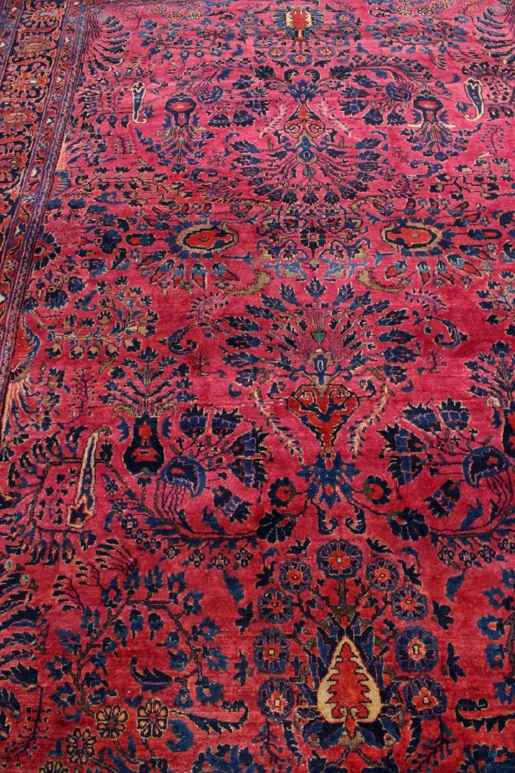 RED AND BLUE ORIENTAL RUG - 3