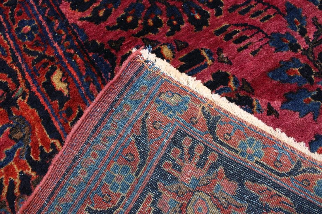 RED AND BLUE ORIENTAL RUG - 4