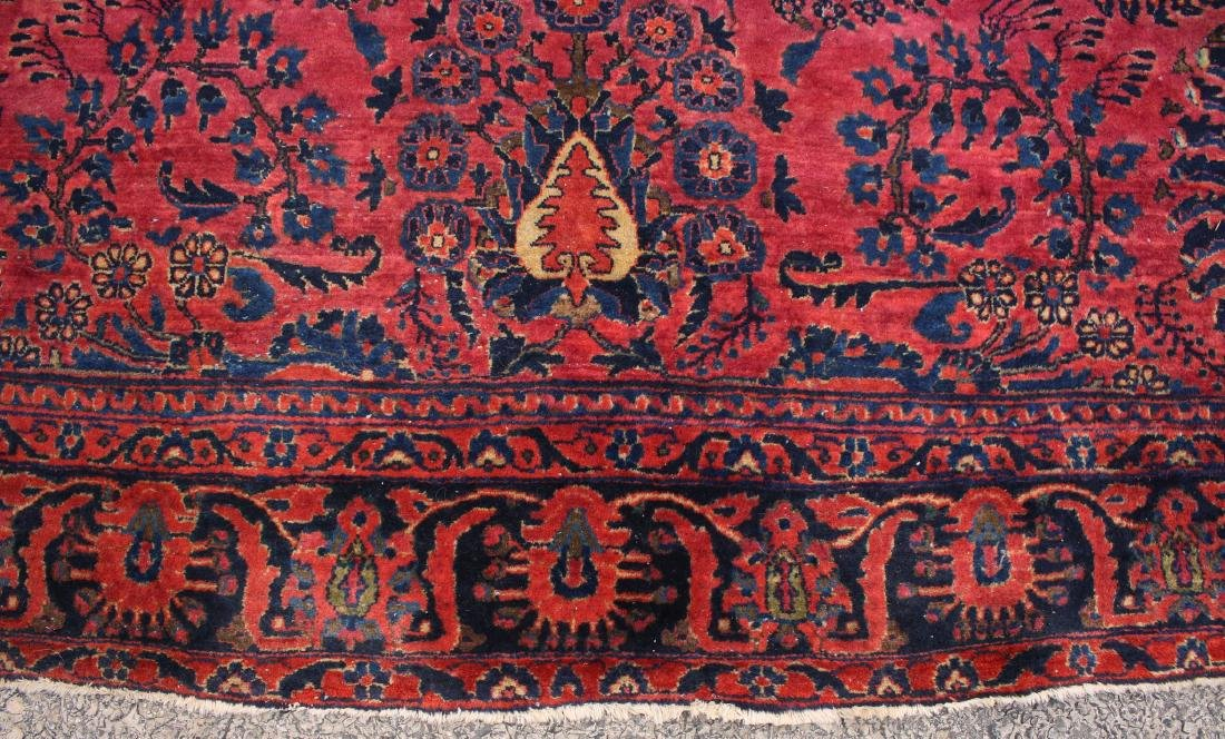 RED AND BLUE ORIENTAL RUG - 5