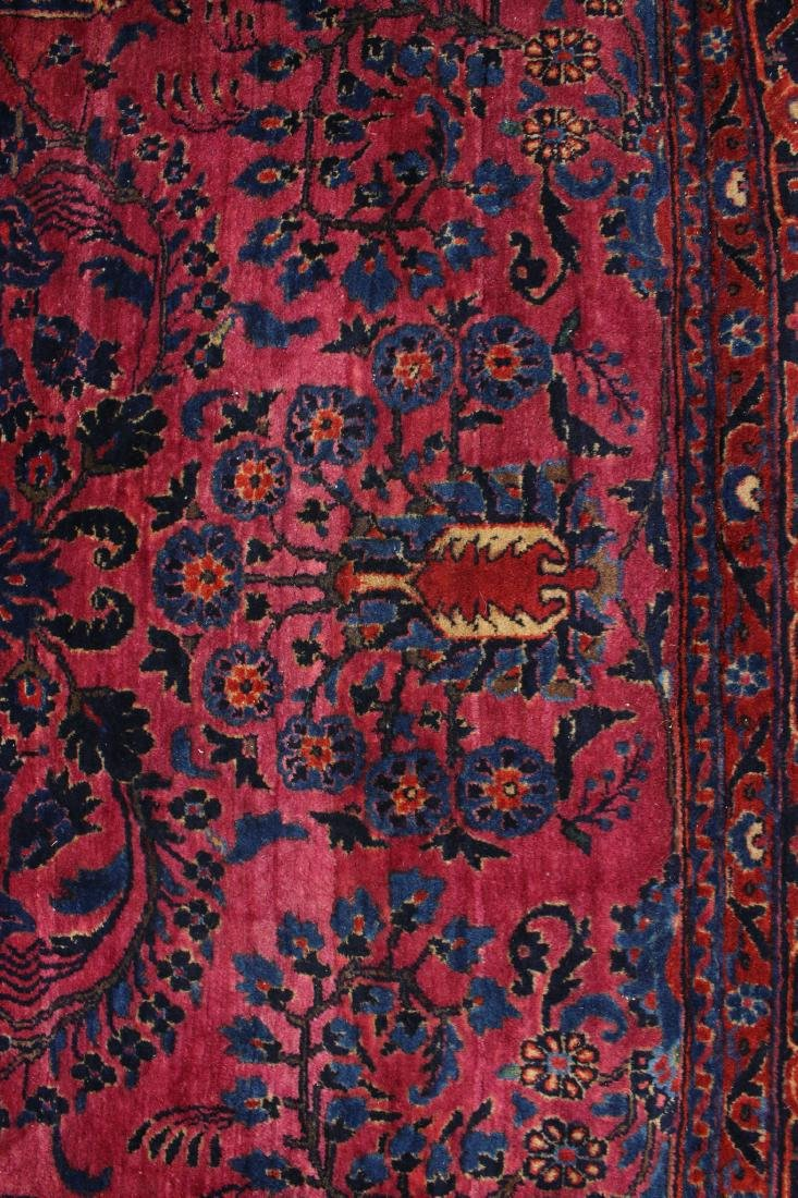 RED AND BLUE ORIENTAL RUG - 6