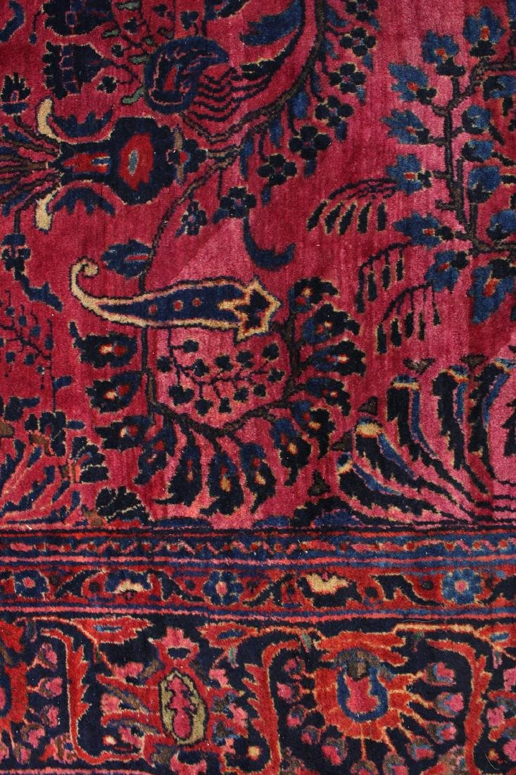 RED AND BLUE ORIENTAL RUG - 7