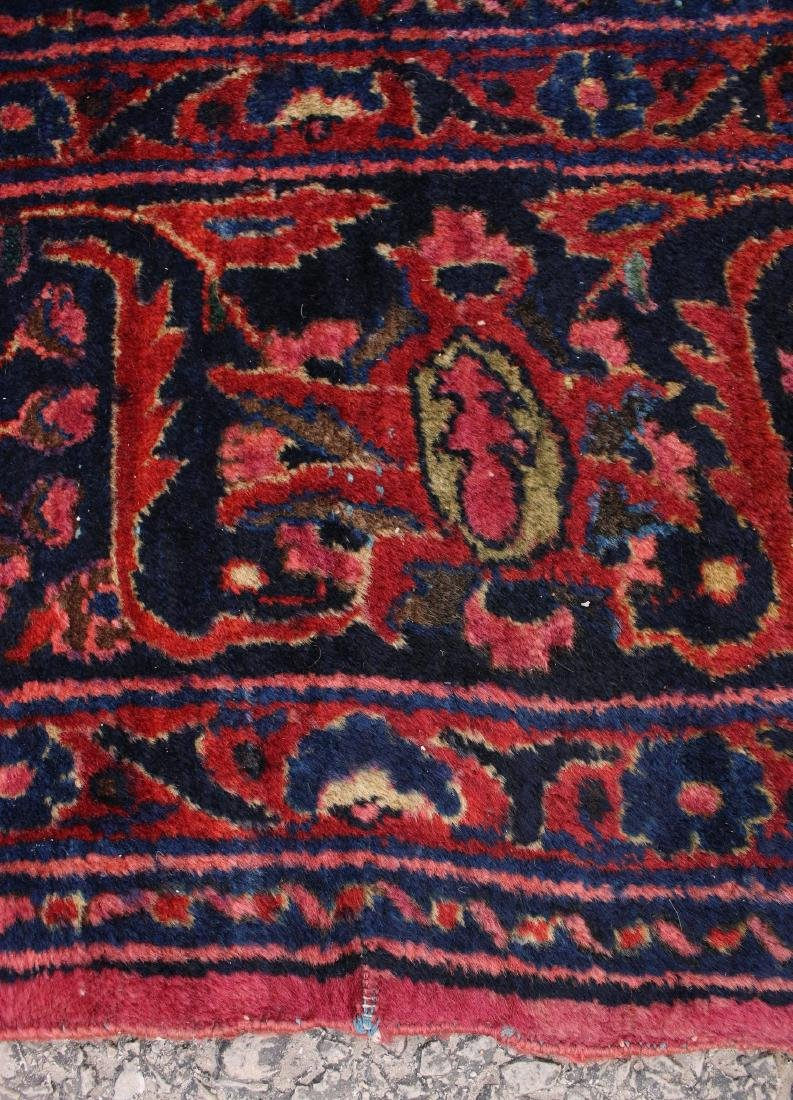 RED AND BLUE ORIENTAL RUG - 8