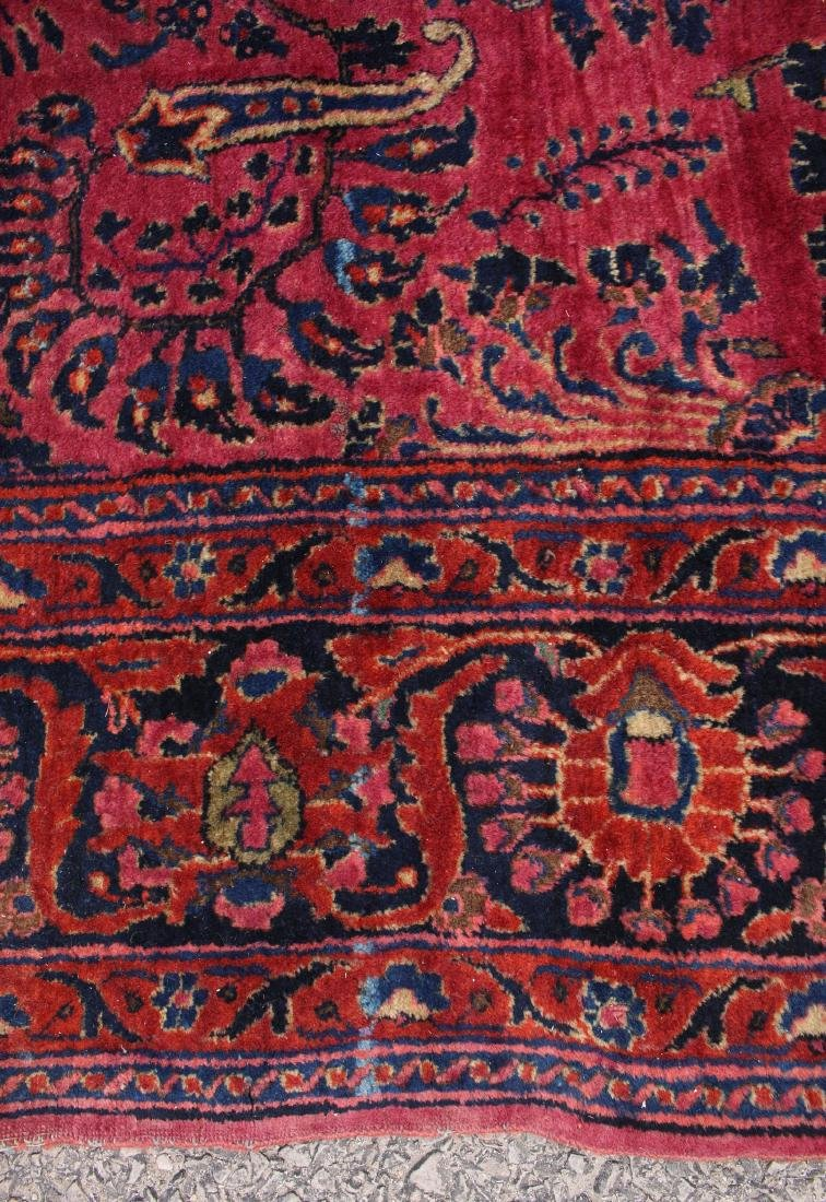 RED AND BLUE ORIENTAL RUG - 9