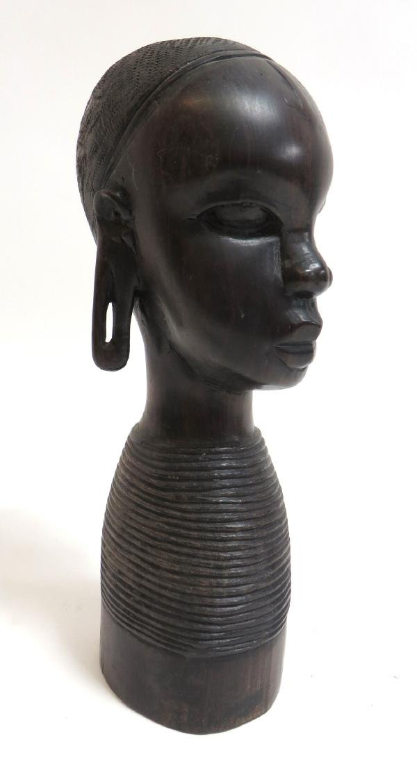 AFRICAN BUST CARVING