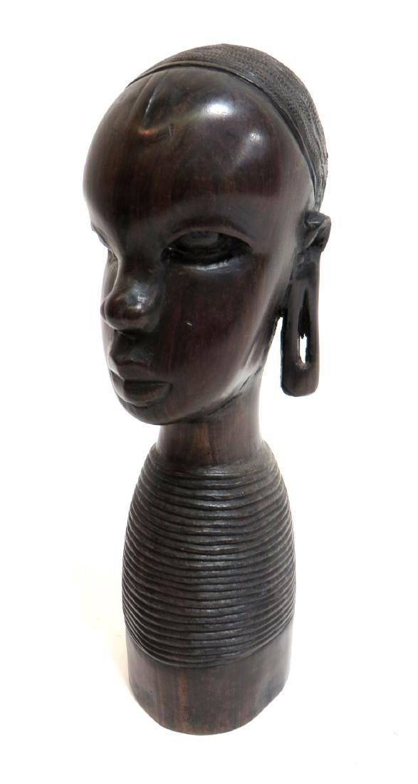 AFRICAN BUST CARVING - 2