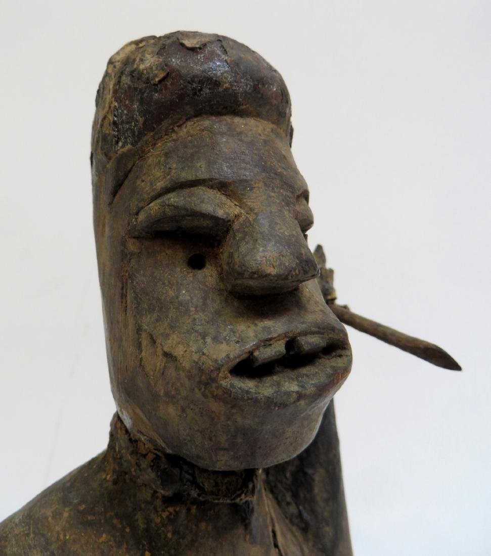 AFRICAN FIGURE WITH SPEAR - 2