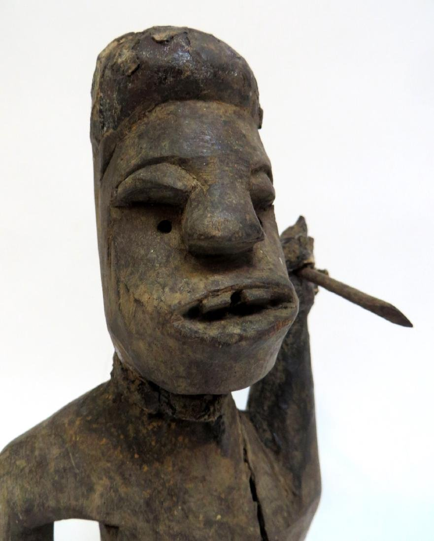 AFRICAN FIGURE WITH SPEAR - 6