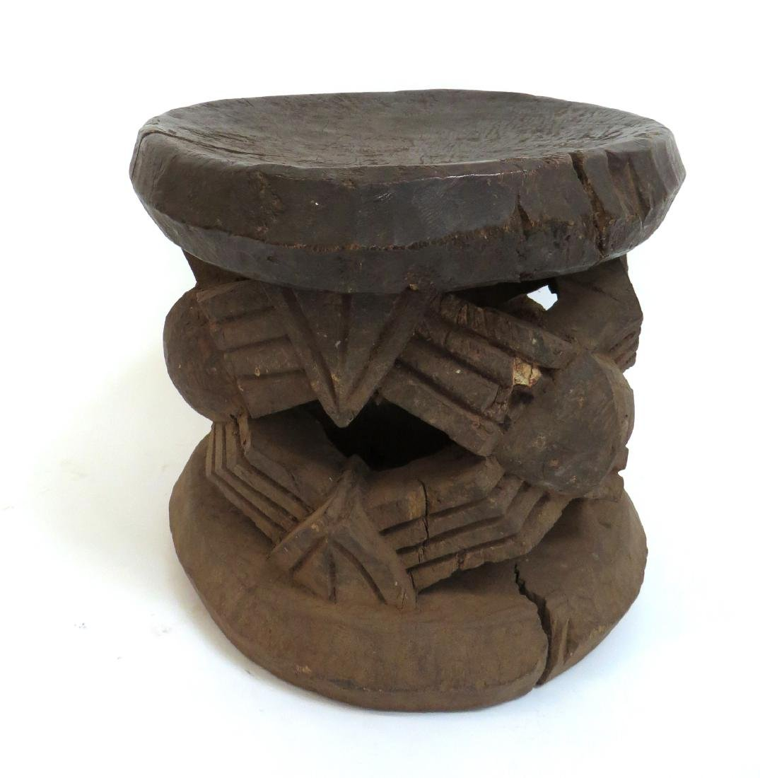 CARVED AFRICAN STOOL