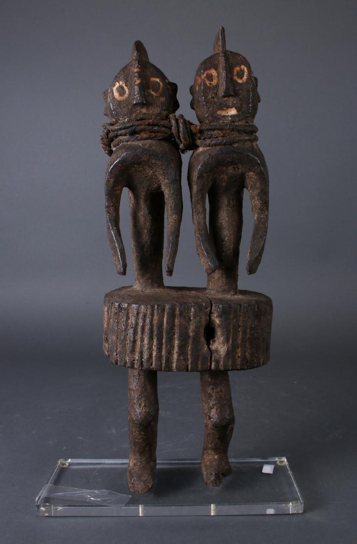 AFRICAN NIGERIAN TWINS SCULPTURE - 2