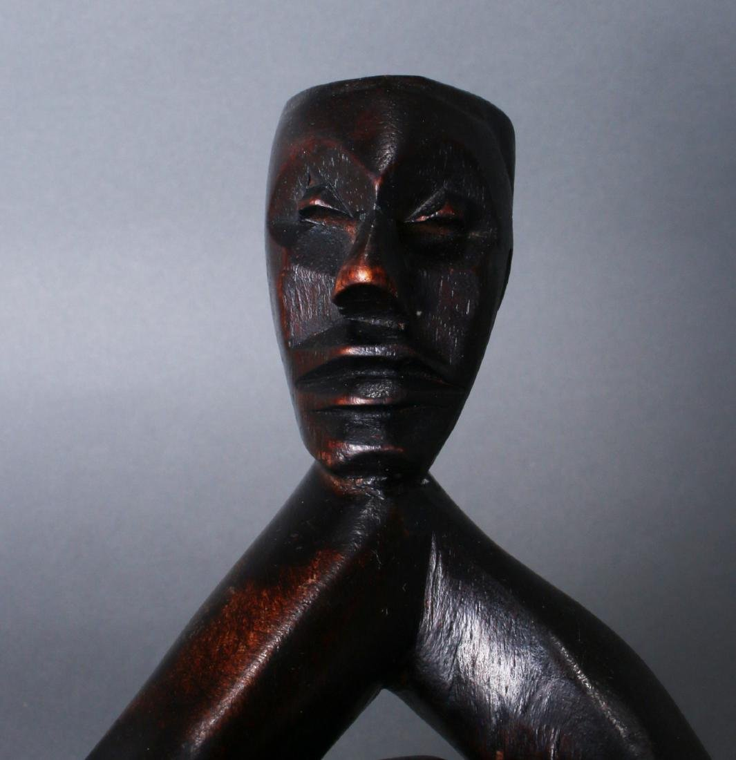 TWO AFRICAN CARVINGS - 8