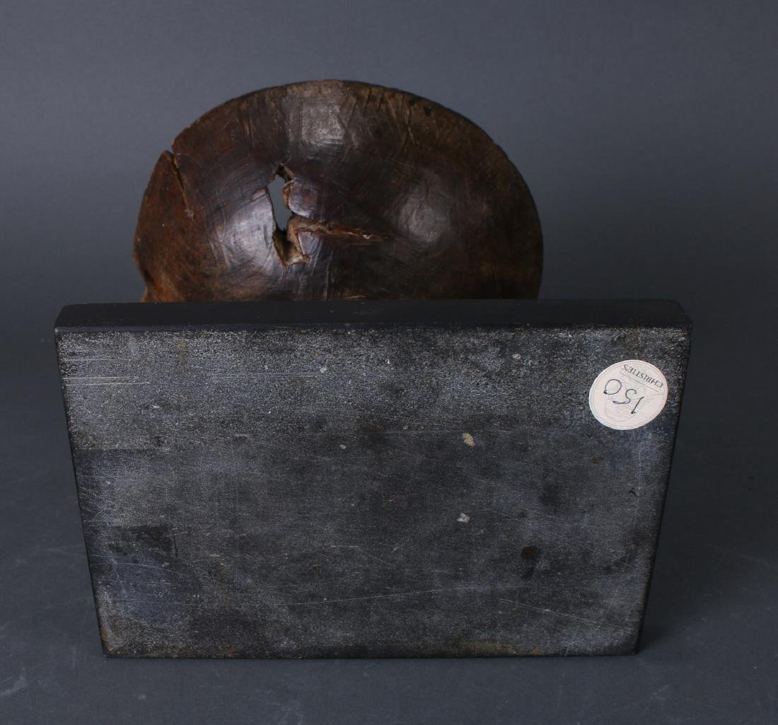 AFRICAN WOODEN BOWL ON PIGEON BASE - 8