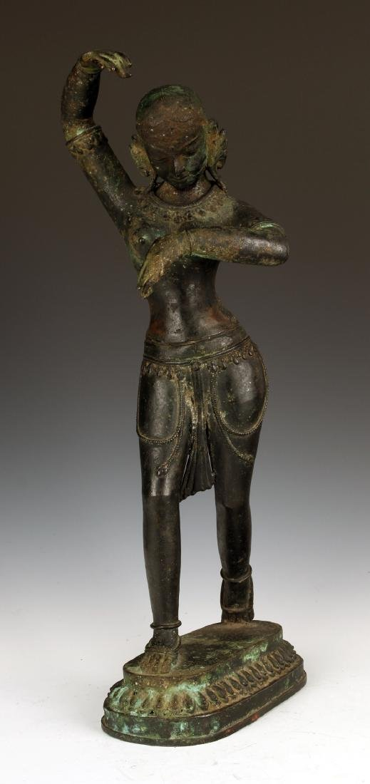 BRONZE INDIAN/TIBETAN HINDU CASTING OF MAYA DEVI