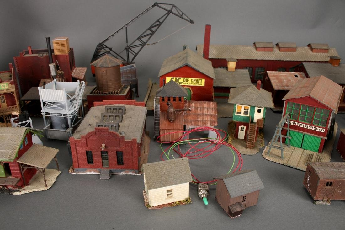COLLECTION OF MODEL TRAIN BUILDINGS - 2