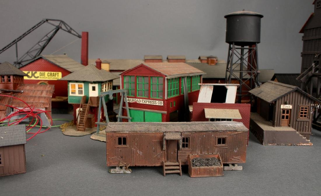 COLLECTION OF MODEL TRAIN BUILDINGS - 4