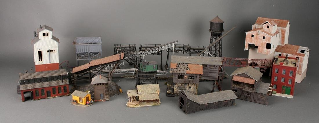 COLLECTION OF MODEL TRAIN BUILDINGS