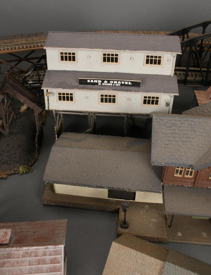 COLLECTION OF MODEL TRAIN BUILDINGS - 5