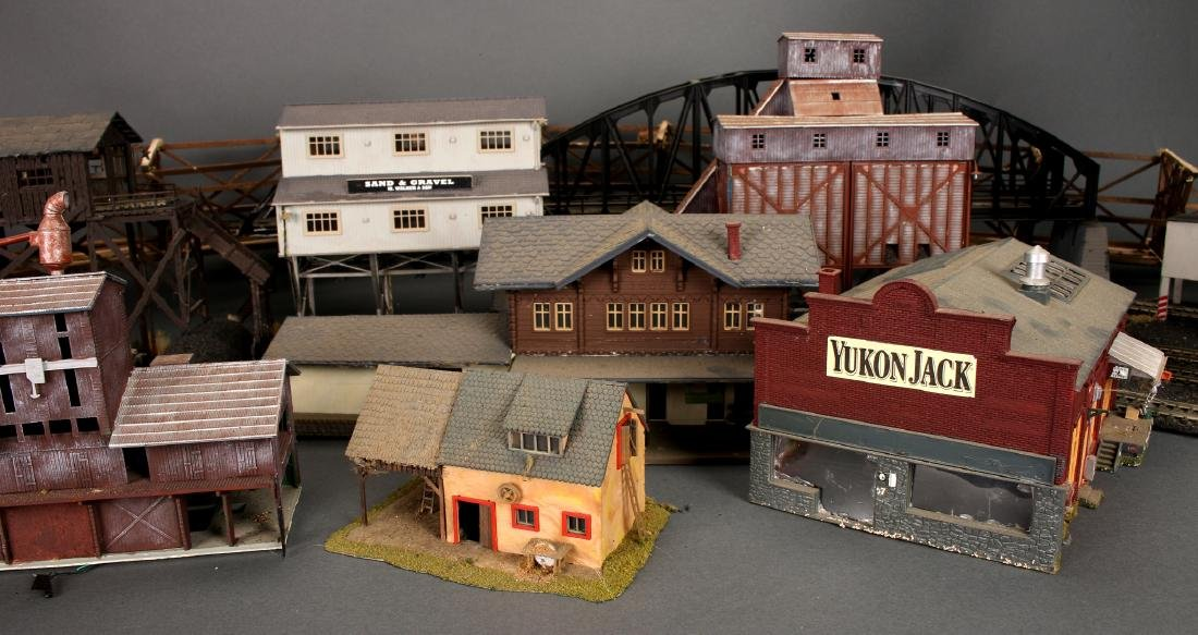 COLLECTION OF MODEL TRAIN BUILDINGS - 7