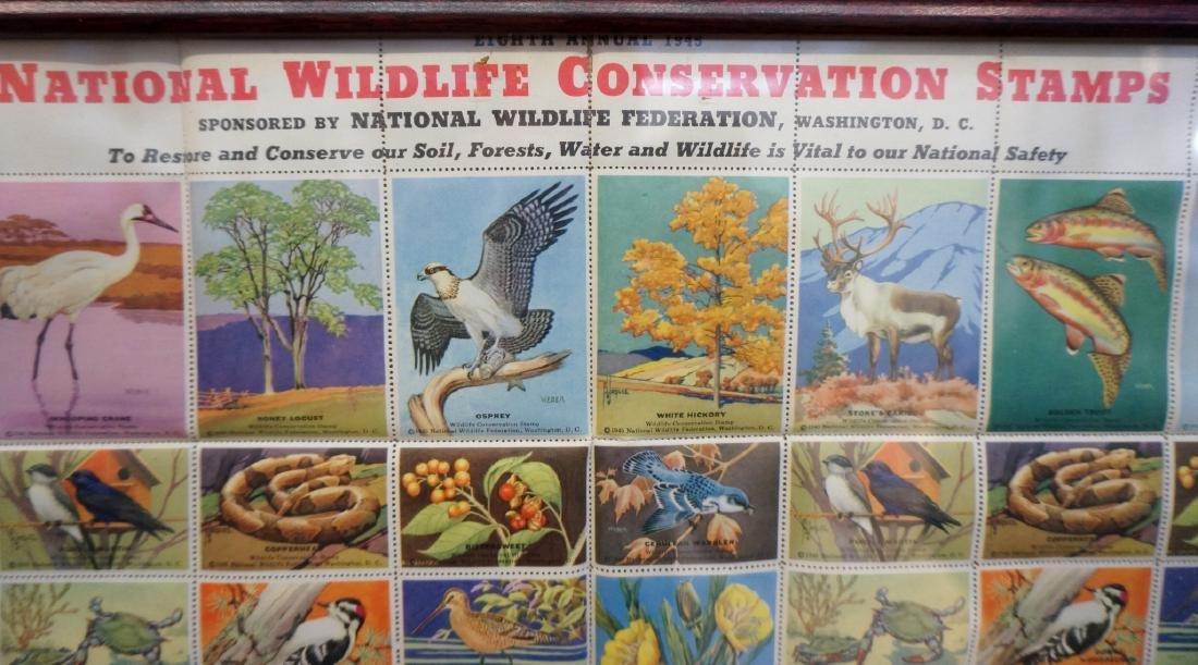 FRAMED NATIONAL WILDLIFE CONSERVATION STAMPS - 4
