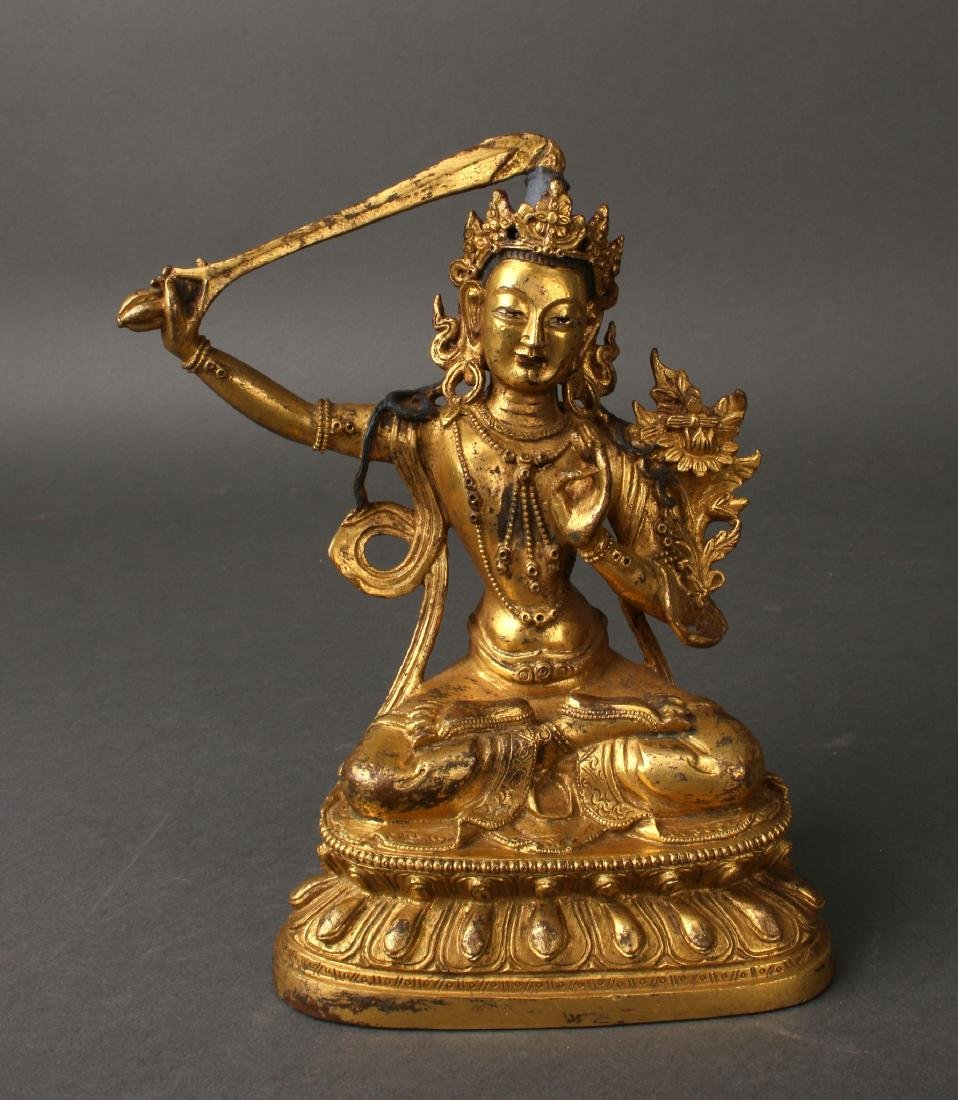 BRONZE TARA WITH SWORD
