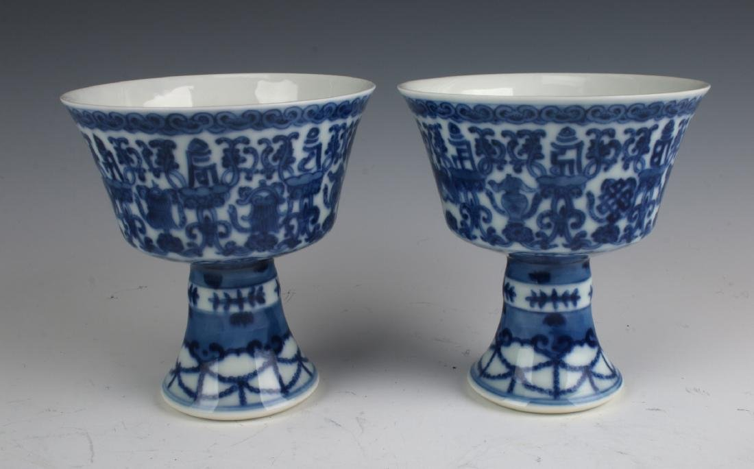 PAIR OF HIGH HEELED CUPS