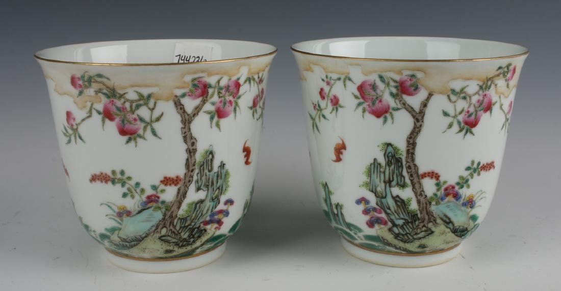 PAIR OF LARGE TEA CUPS
