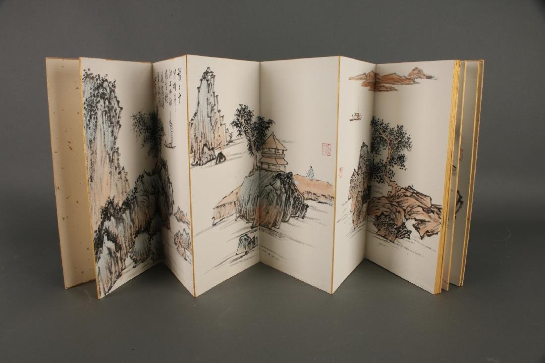 CHINESE PAINTING BOOK OF WATERCOLORS