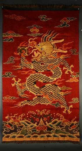 RED KESI WITH A GOLDEN DRAGON