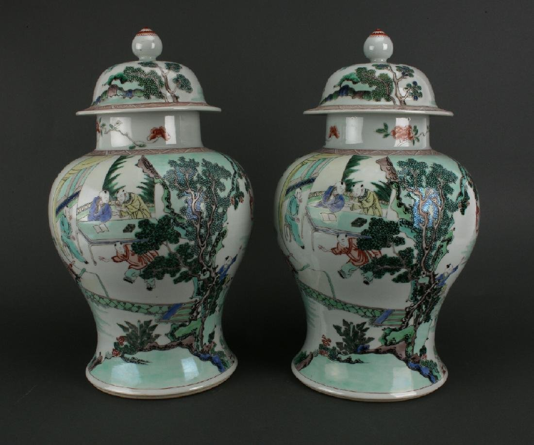 PAIR OF GINGER JARS