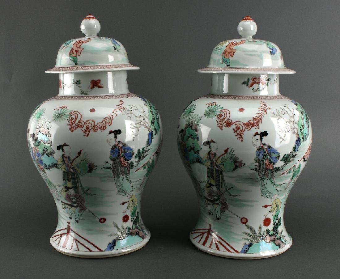 PAIR OF GINGER JARS - 3