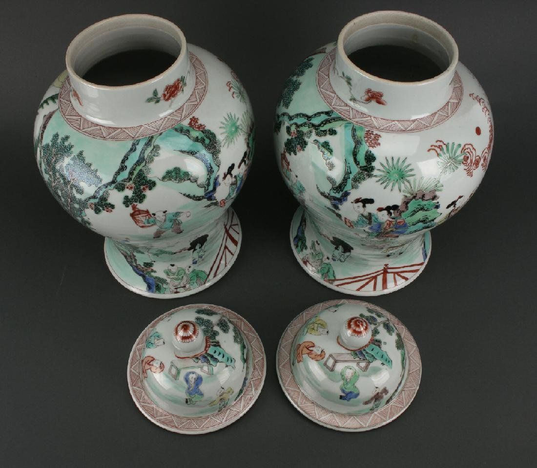 PAIR OF GINGER JARS - 4