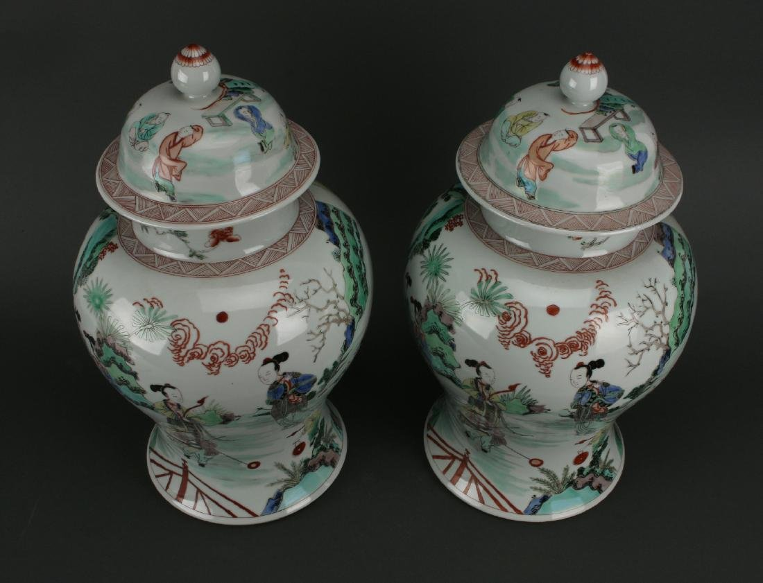 PAIR OF GINGER JARS - 5