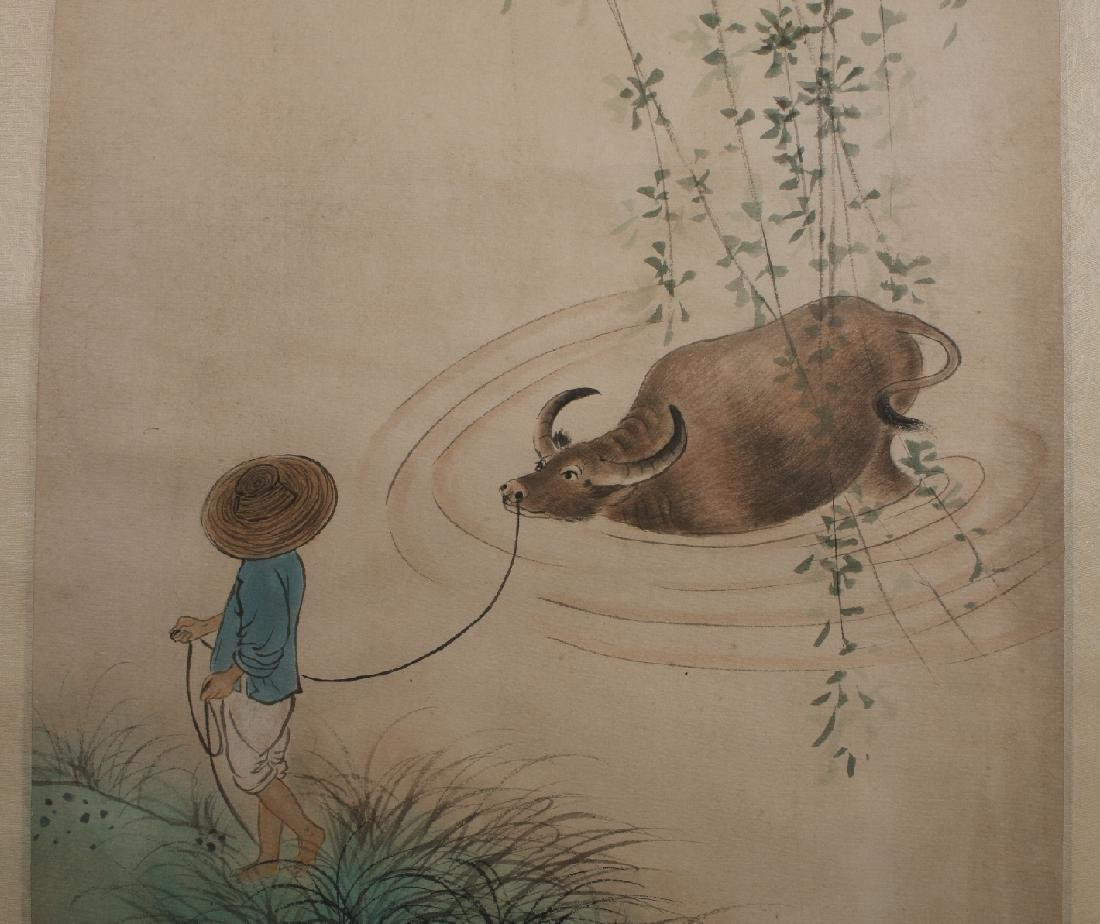 PAINTING OF WATER BUFFALO & SHEPHERD - 2