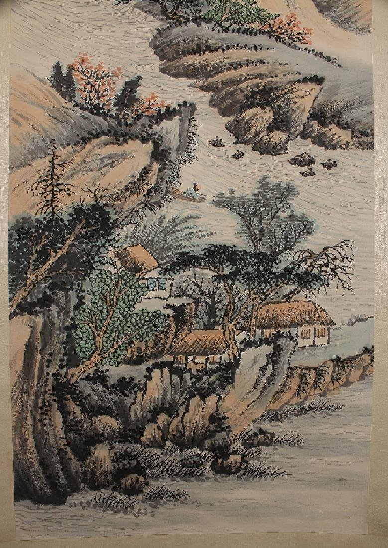 SCROLL OF MOUNTAIN VILLAGE & RIVER - 3