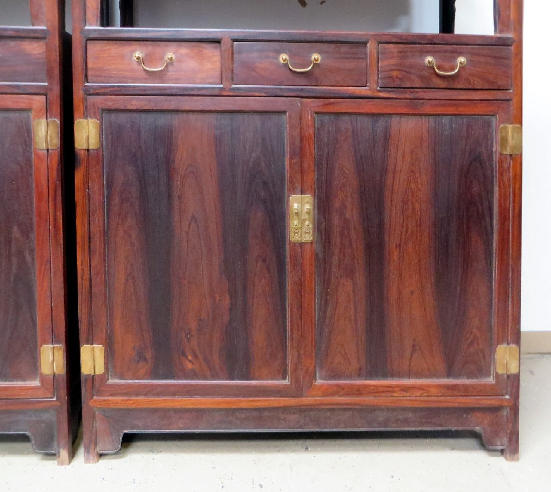 PAIR OF CHINESE DOUBLE DOOR  HUANGHUALI CABINETS - 4