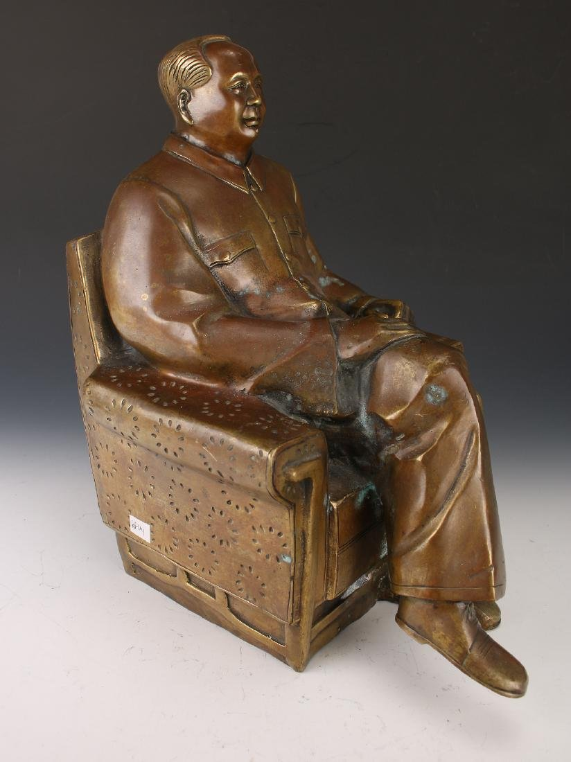 BRONZE OF CHAIRMAN MAO - 3