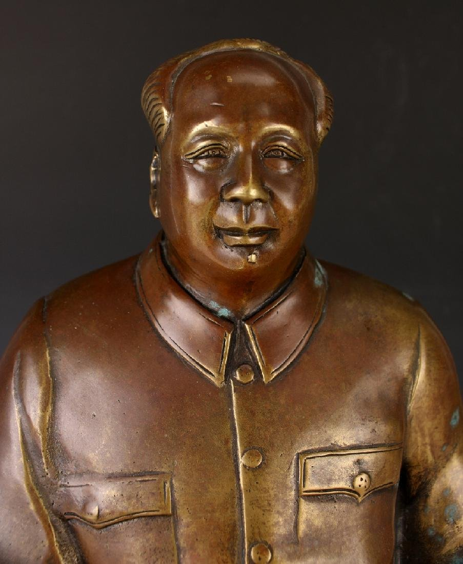 BRONZE OF CHAIRMAN MAO - 5