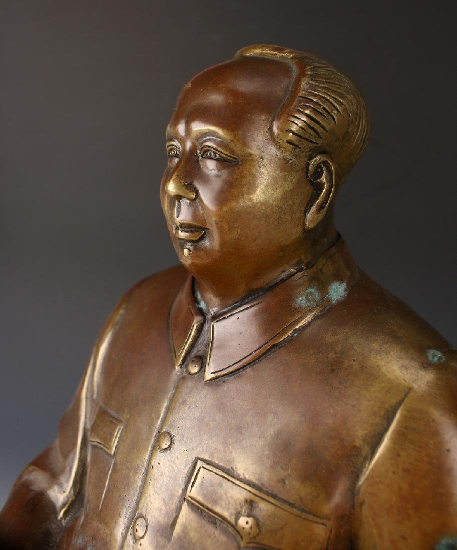 BRONZE OF CHAIRMAN MAO - 6