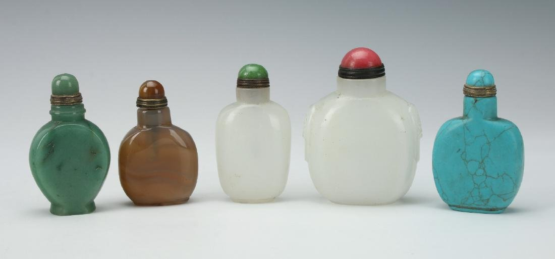 FIVE SNUFF BOTTLES - 2