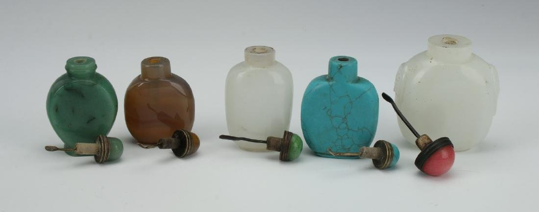 FIVE SNUFF BOTTLES - 4
