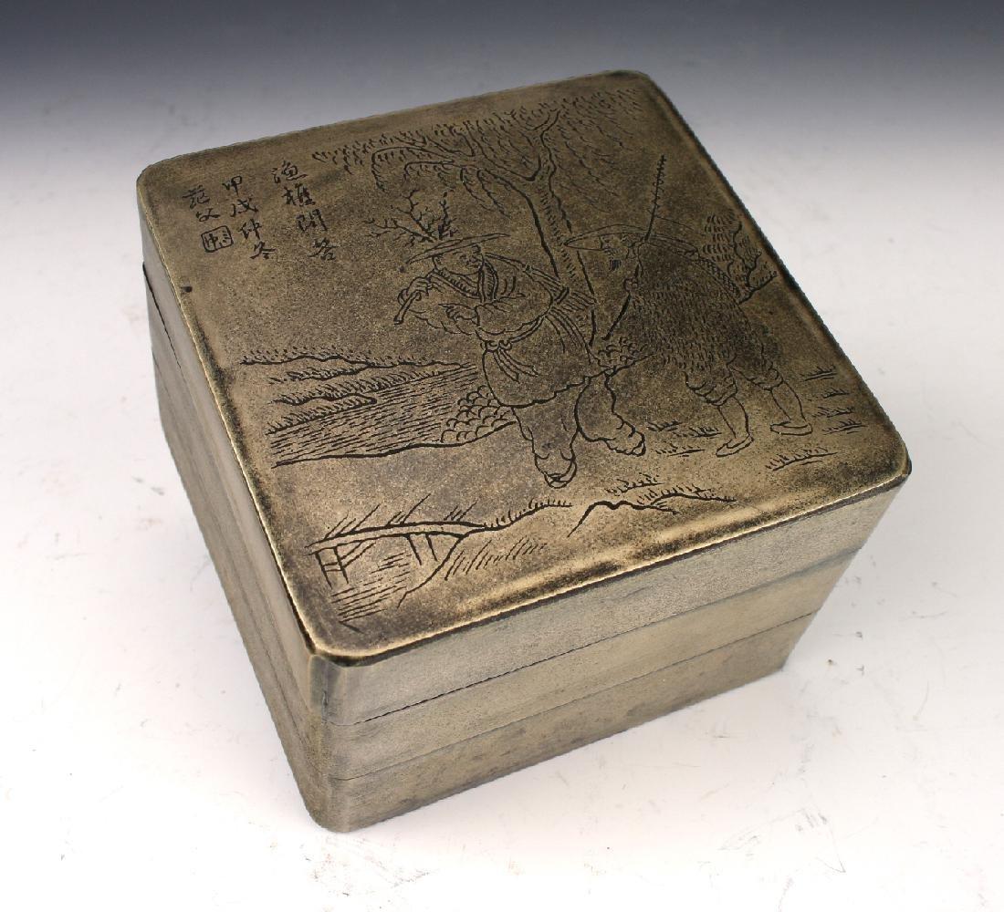METAL THREE TIERED BOX