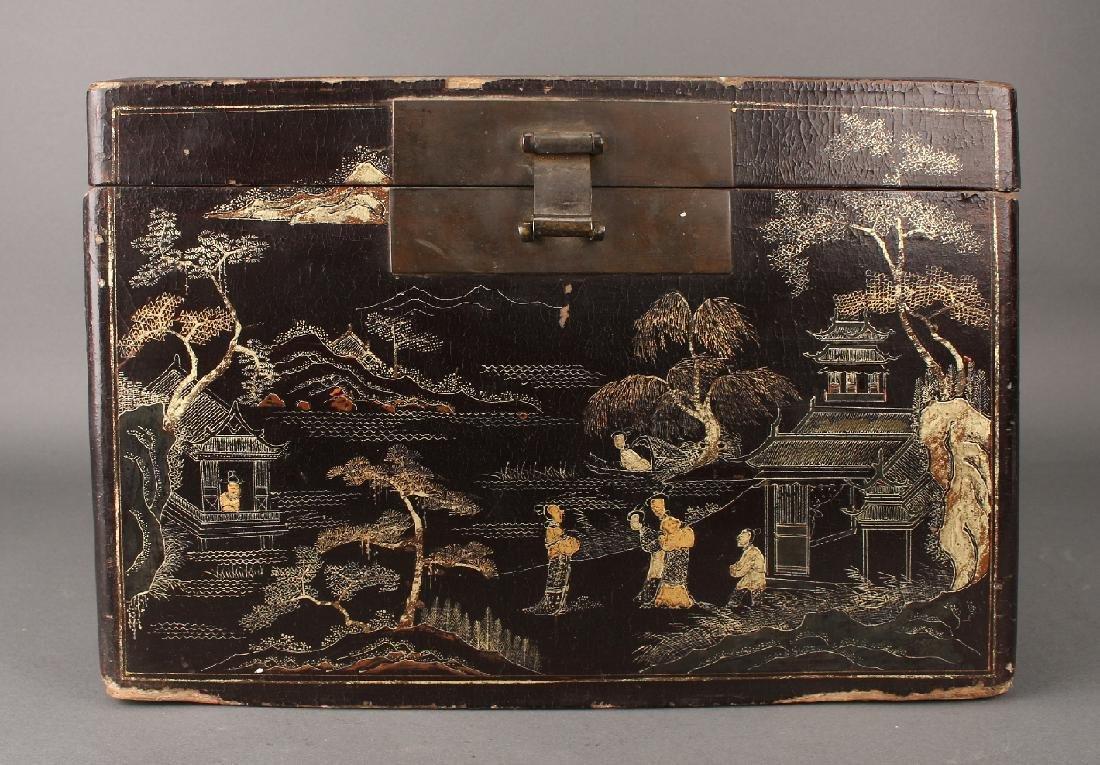 BLACK LACQUER BOX - 2
