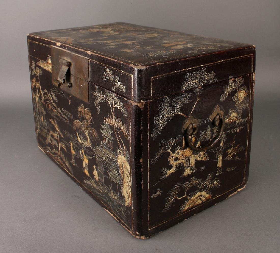 BLACK LACQUER BOX - 3