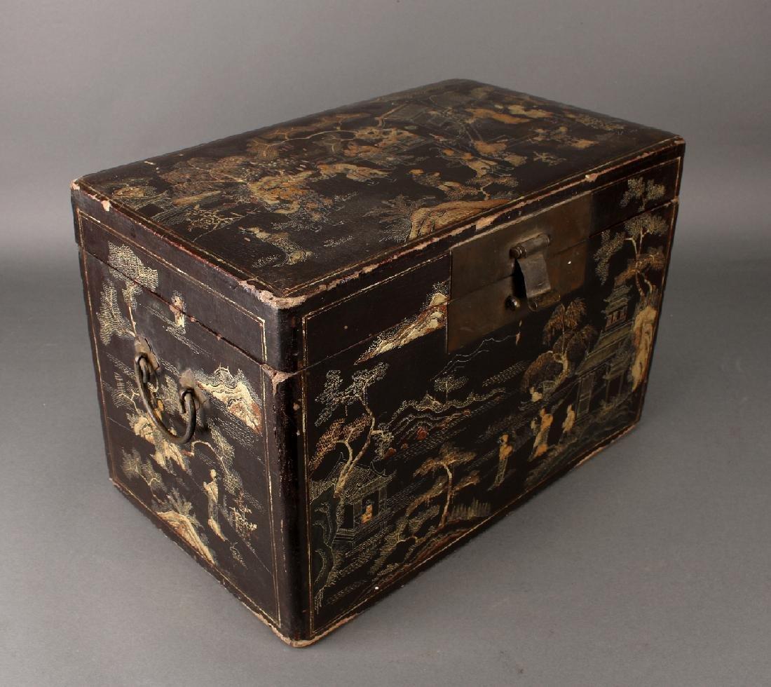 BLACK LACQUER BOX - 4