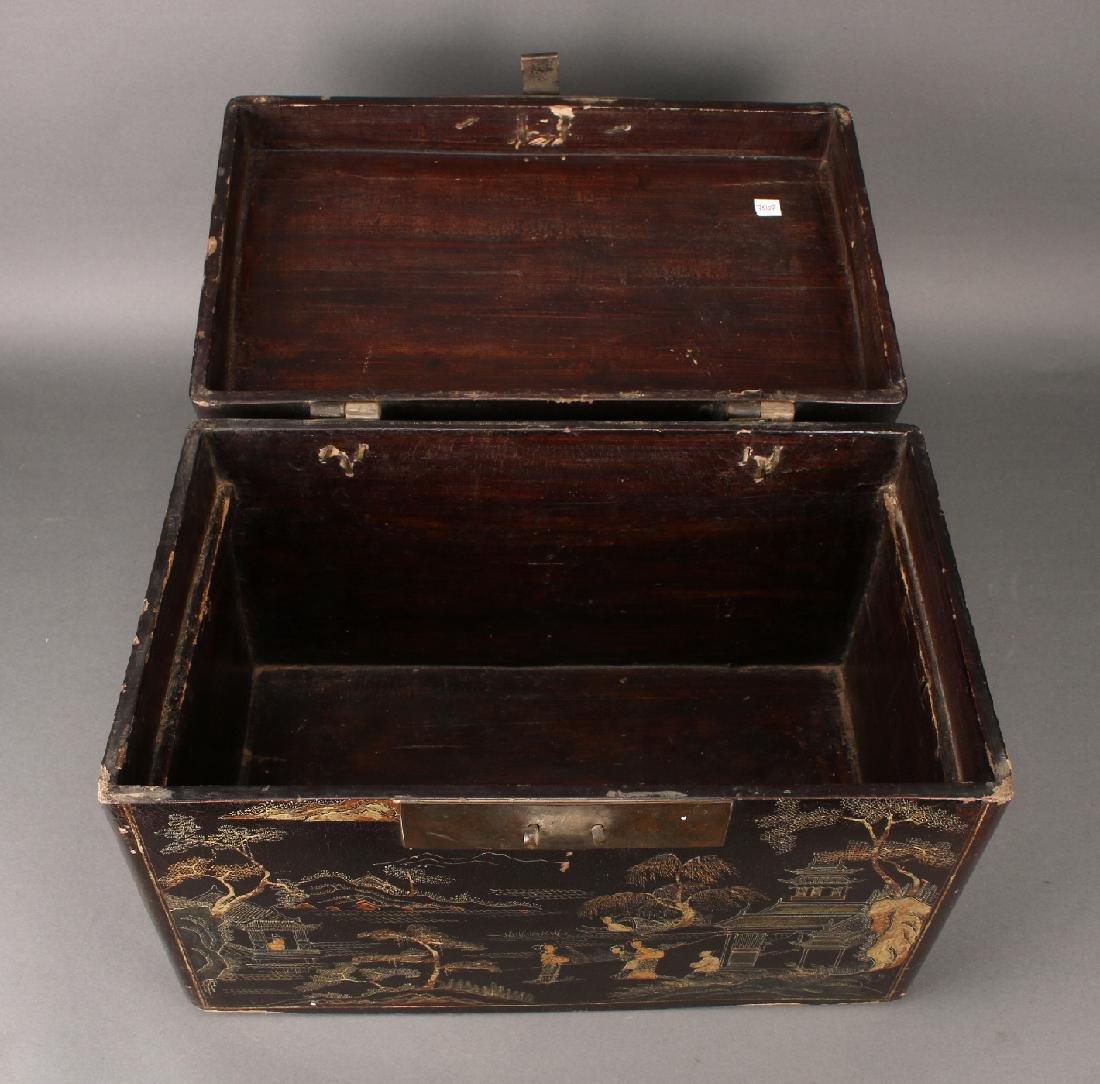BLACK LACQUER BOX - 6