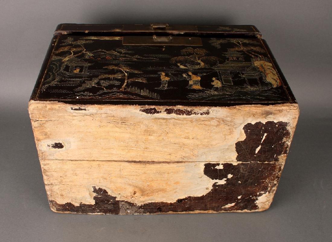 BLACK LACQUER BOX - 7