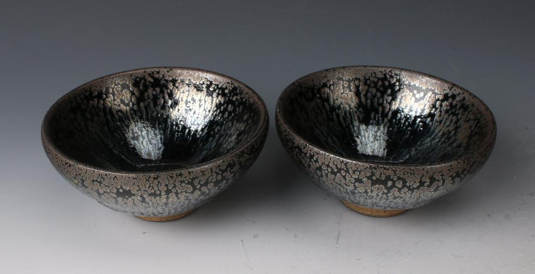 TWO HARE'S FUR BOWLS