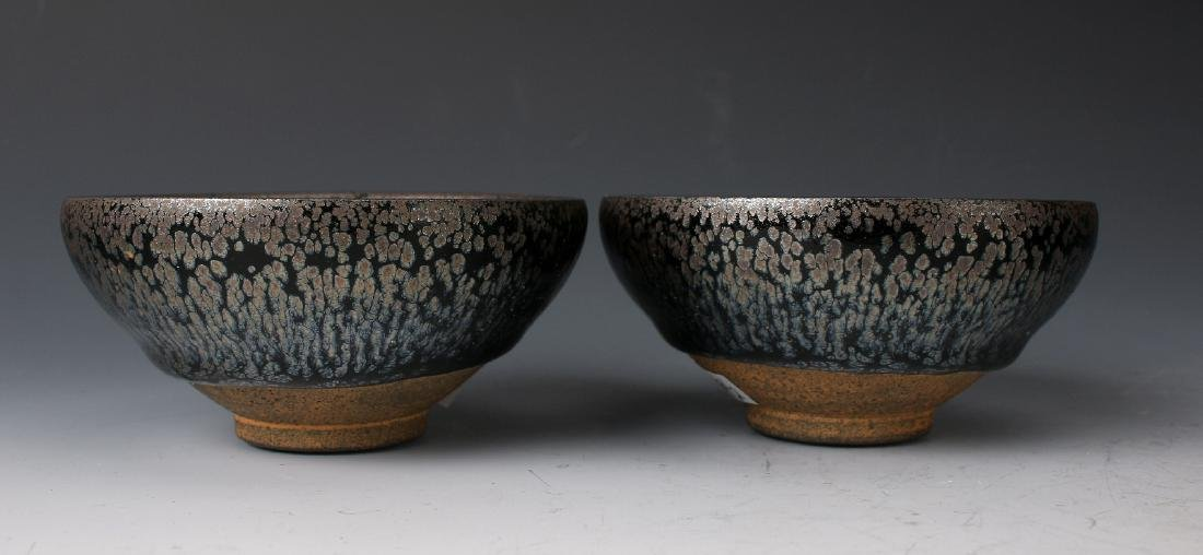 TWO HARE'S FUR BOWLS - 2