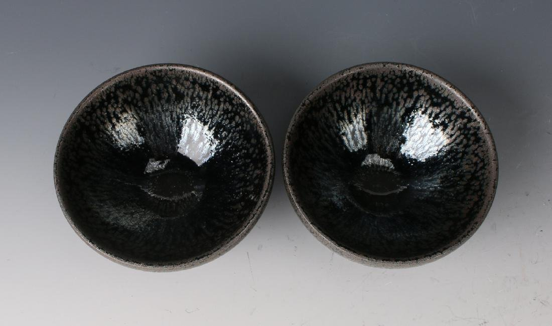 TWO HARE'S FUR BOWLS - 6