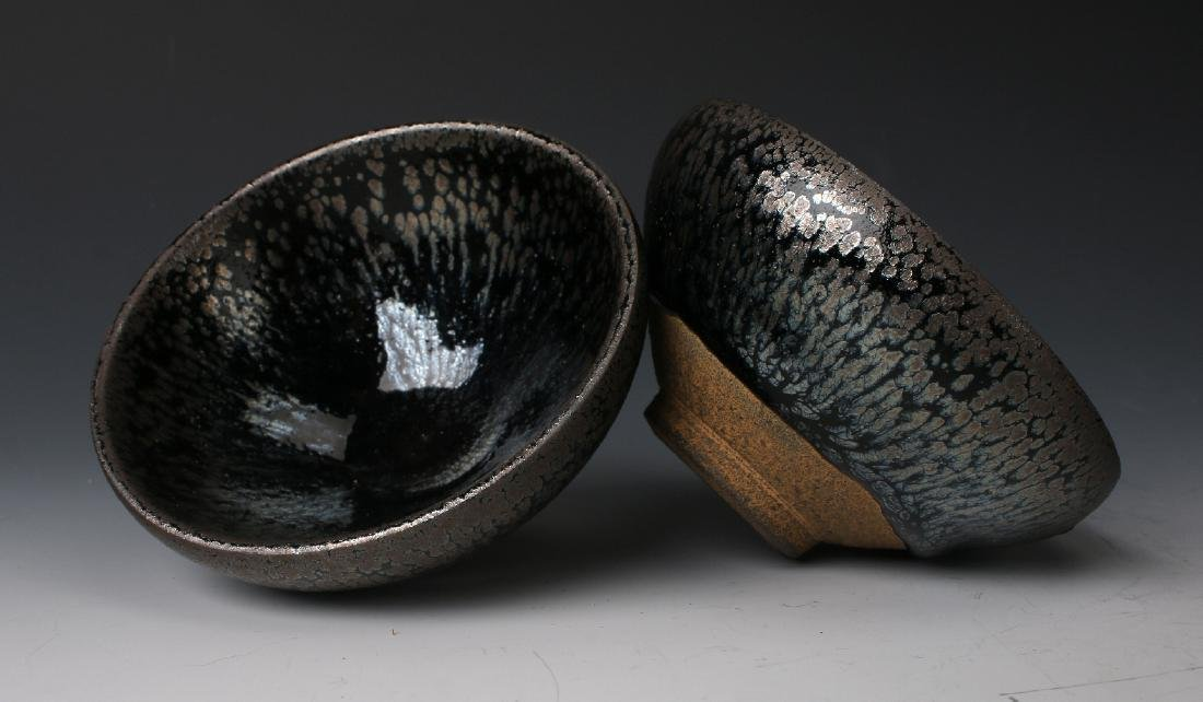 TWO HARE'S FUR BOWLS - 7